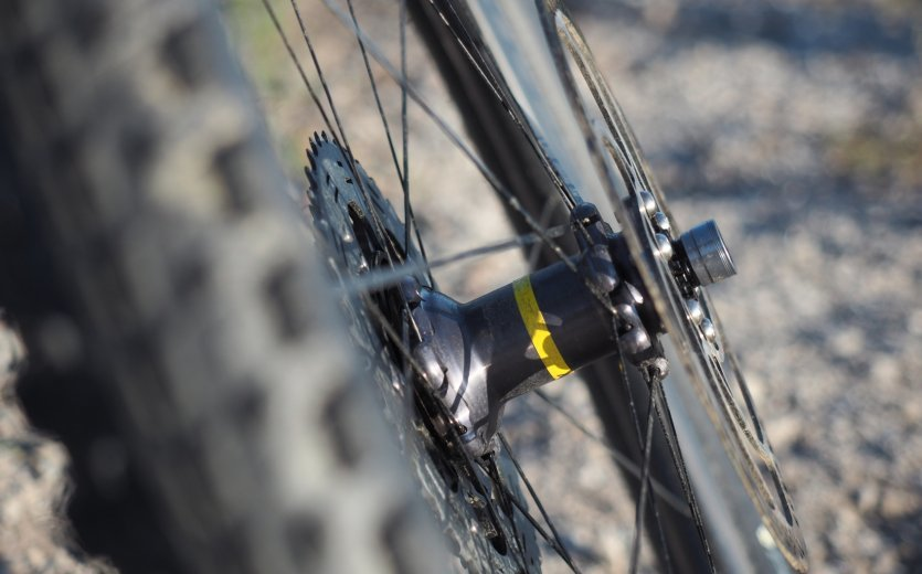 Mavic Crossmax Pro Carbon WTS wheelset.