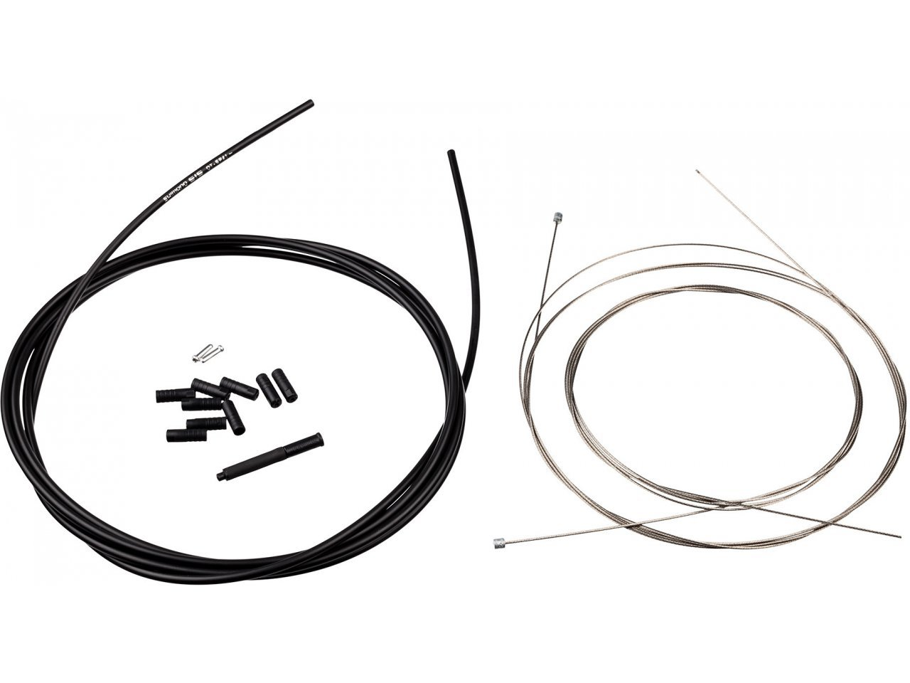 Black Shimano MTB Stainless Brake Cable and Housing Set