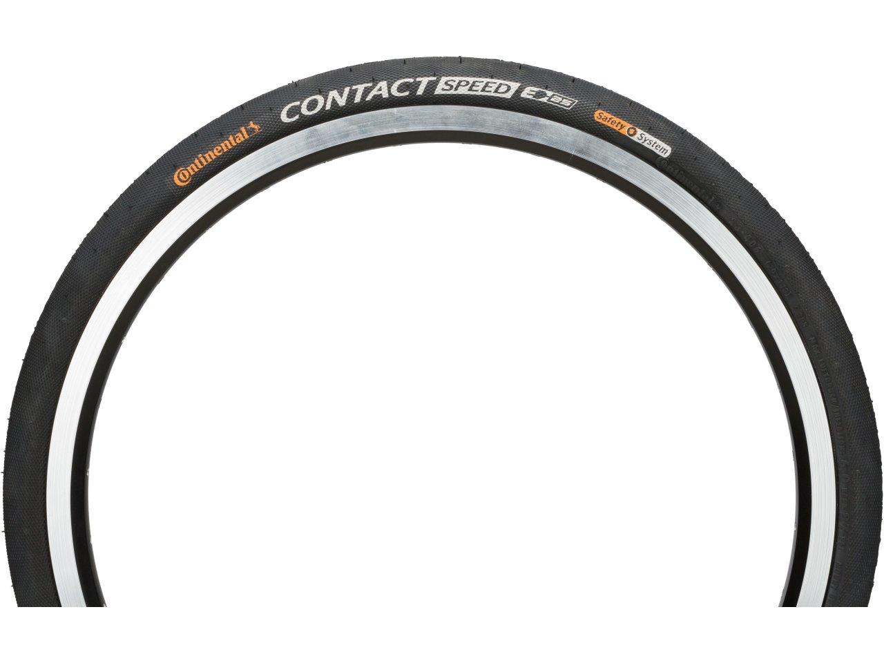 Continental Contact Speed Schwarz Reflex Fahrrad-Drahtreifen E-25 Pannenschutz