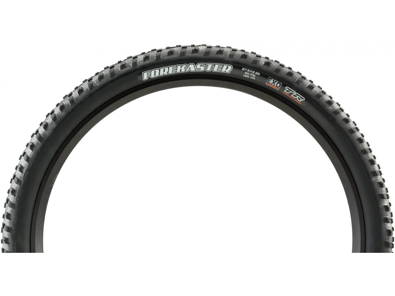 """EXO Dual Compound Tubeless Maxxis Forekaster 27.5x2.35/"""" Tire 120tpi"""