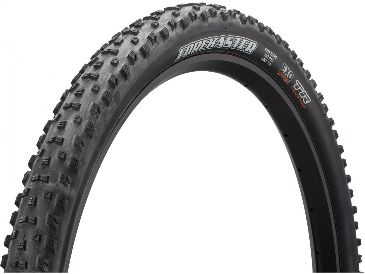 "Maxxis Forekaster 29 x 2.35/"" EXO TR 120TPI Dual Compound Folding Tire"