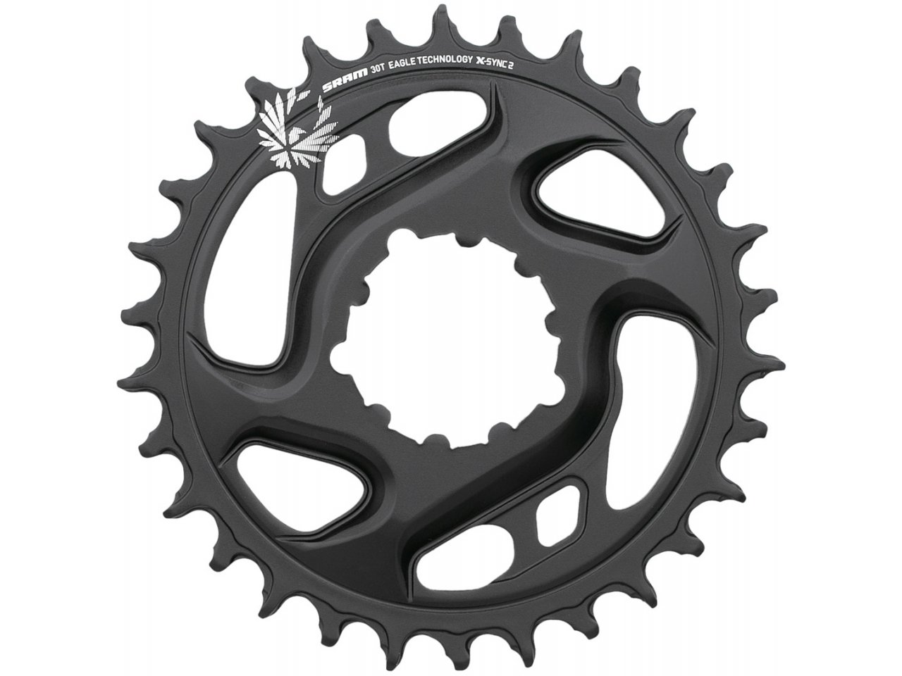 Black Sram Eagle X-Sync 36T Direct Mount Off-Set Aluminium 12-Speed Chain Ring