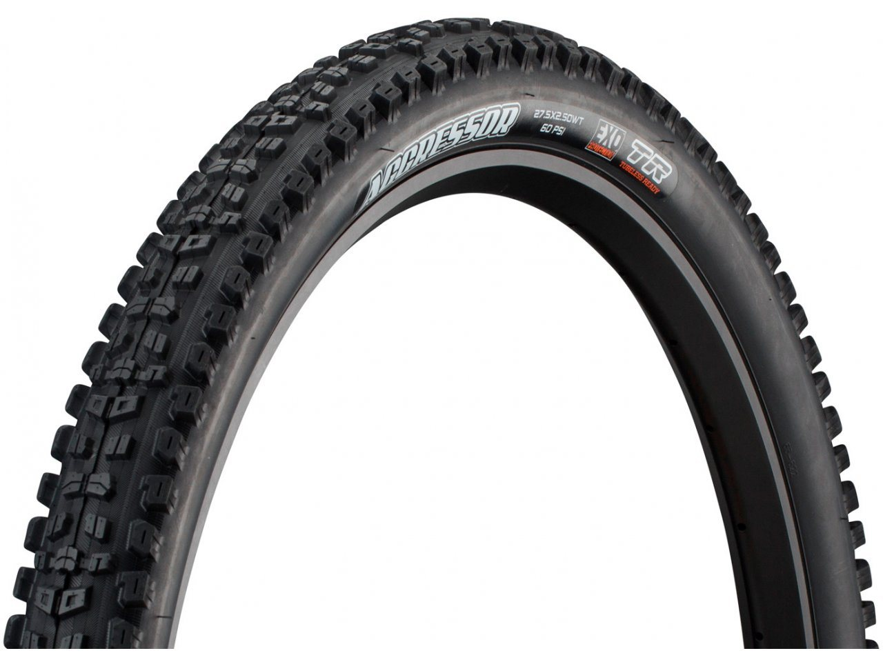 "Maxxis Aggressor Tire 27.5 x 2.5/"" 60tpi Dual Compound EXO Casing Tubeless Ready"