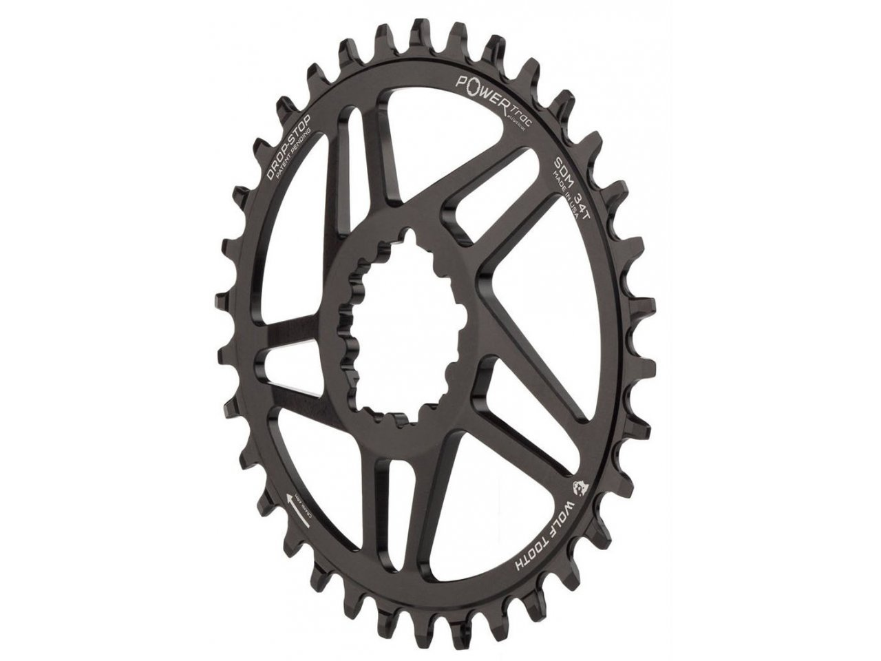 For Shimano XT M8000 Wolf Tooth Elliptical Chainring 30T x 96 Asymmetrical BCD