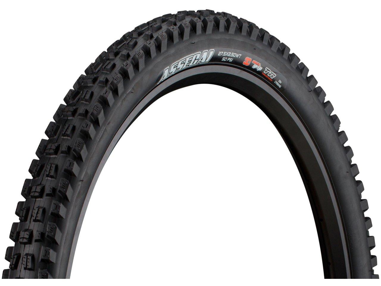 """WT 60tpi Folding 3C MaxxGrip DH Casing New Maxxis Assegai Tire: 27.5x2.50/"""""""