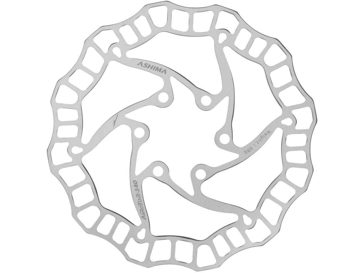 ASHIMA Airotor ARO-08 Bremsscheibe silber brake disc MTB
