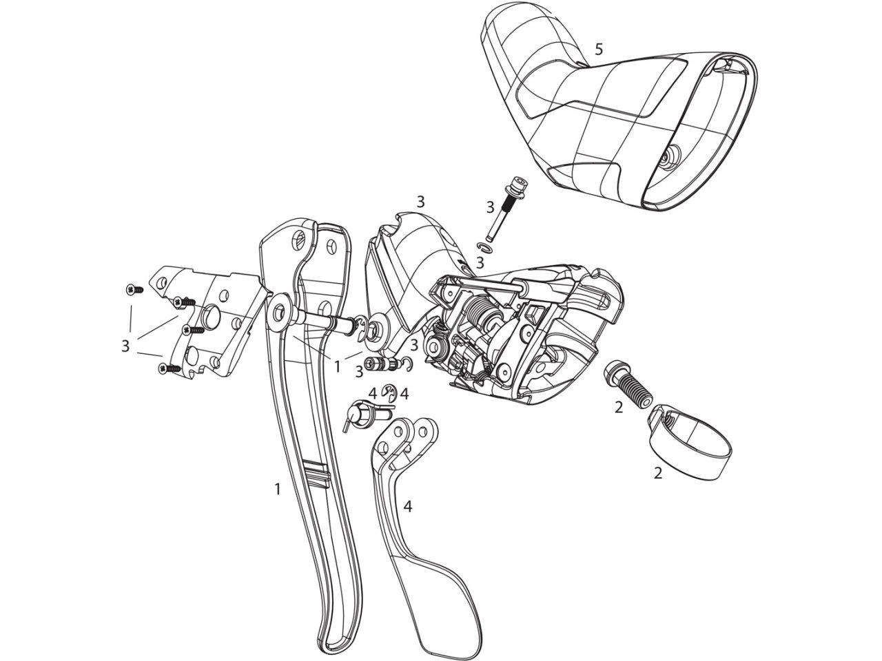 SRAM Red 22 Mechanical Brake//Shift Lever Assembly Left B2