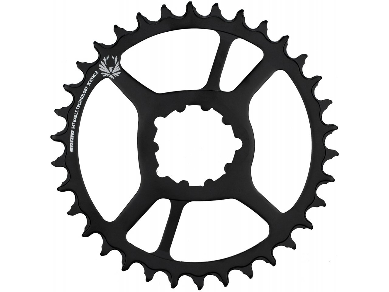 SRAM X-Sync 2 Eagle Chainring 36T Direct Mount 3mm Offset Boost Black with