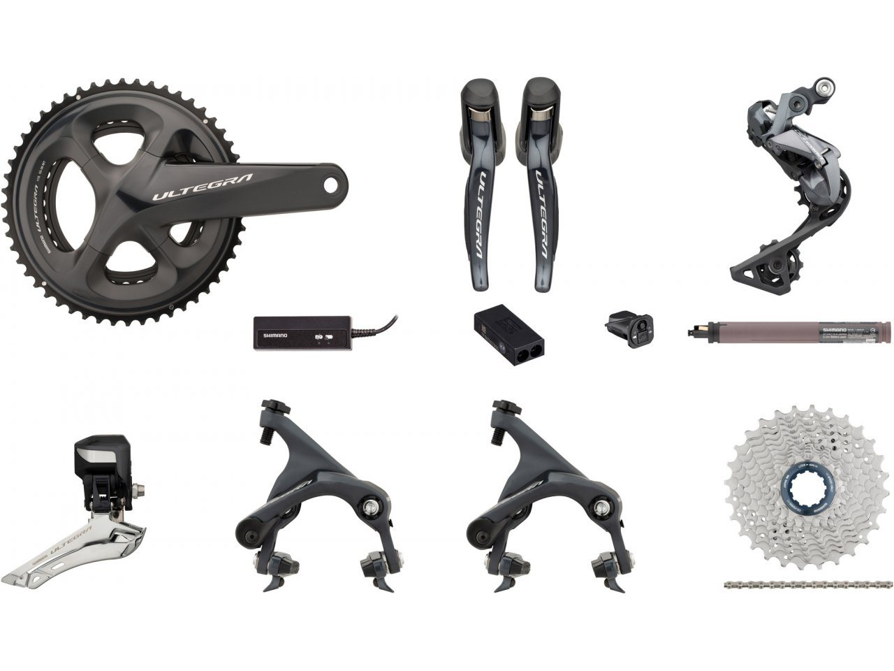 Shimano Ultegra Di2 R8050 2x11 36-52 Groupset w/ Direct Mount ...