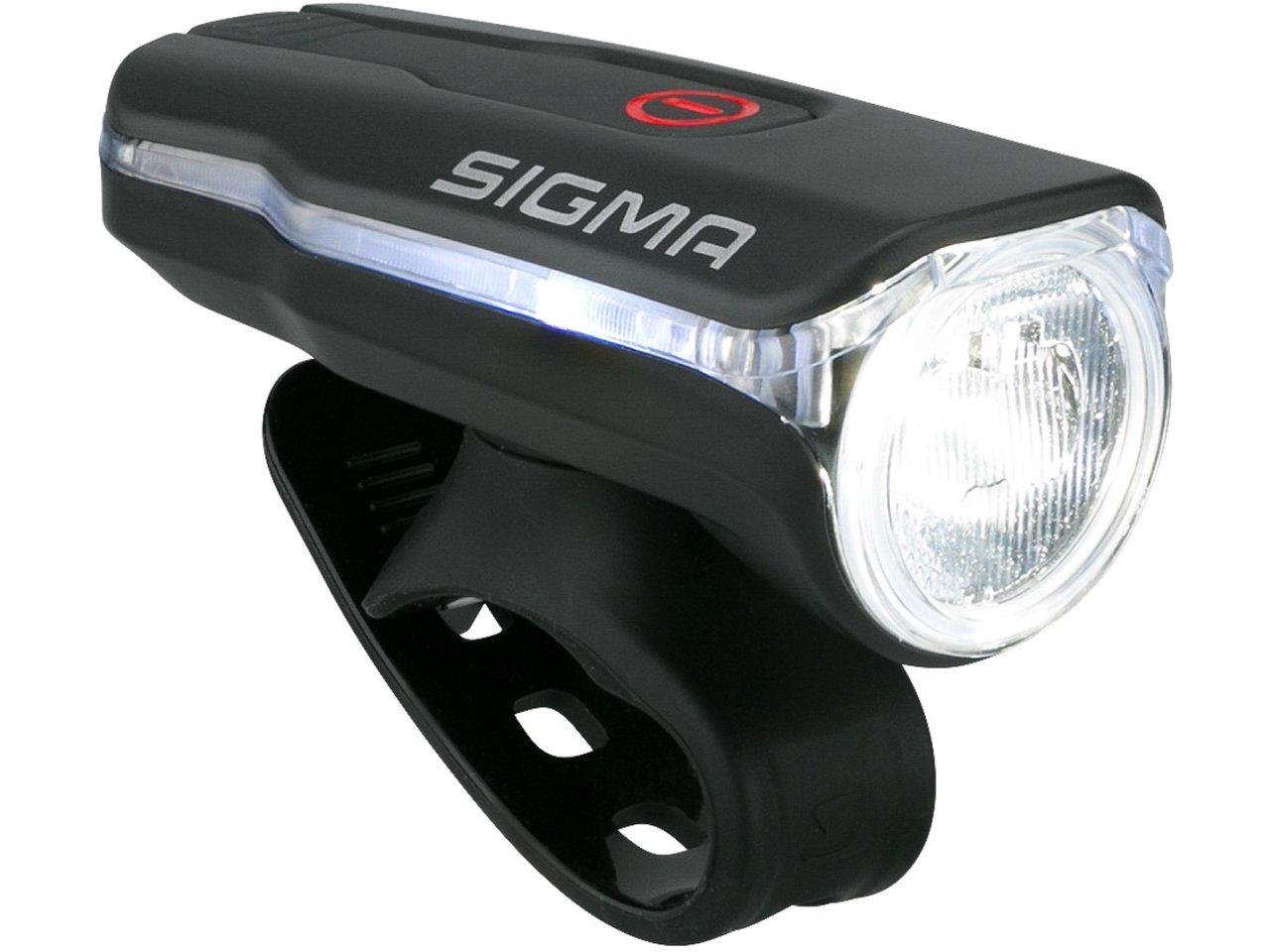 Sigma Scheinwerfer Aura 60 Lux LED USB schwarz Fahrrad Beleuchtung