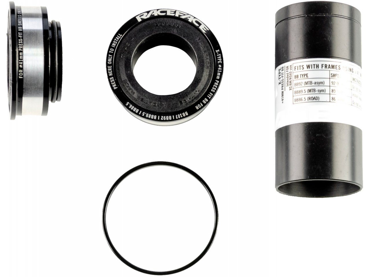 Press Fit Innenlager 41mm X-TYPE BB92 86,5 89,5 Race Face