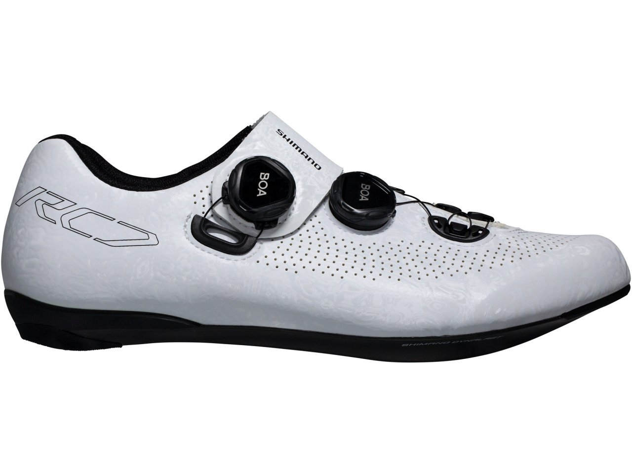 New 2019 Shimano SH-RC701-E Wide Carbon Fiber Road Cycling Shoes White