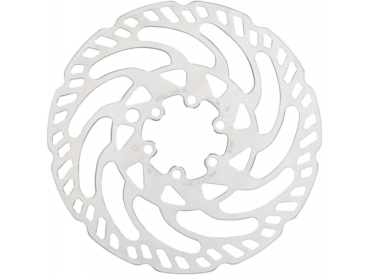 Magura MDR-C Disc Brake Rotor 6 Bolt Disc For eBike One Piece Silver 222 g