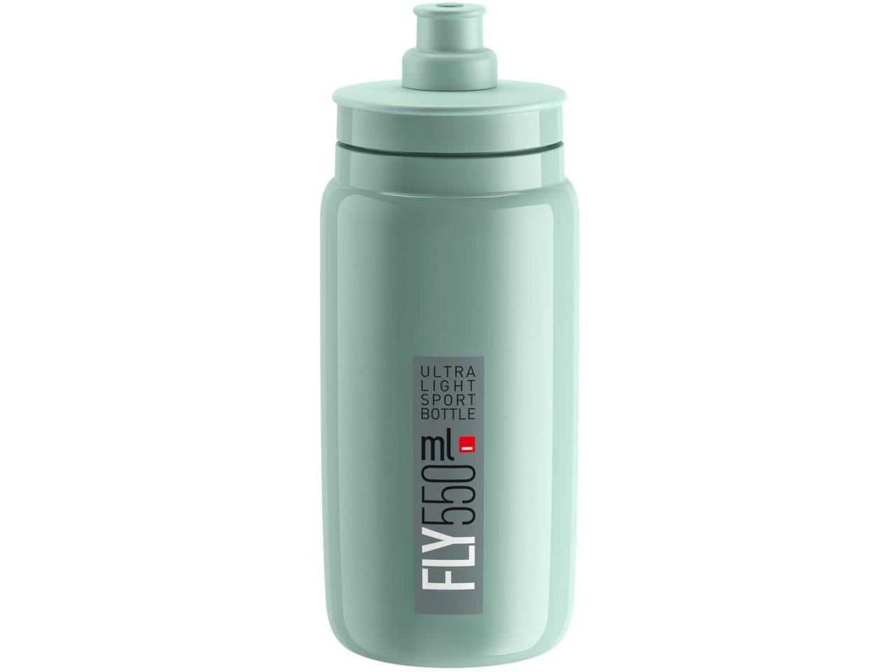 Elite Bouteille Fly MTB 550 ml Clear Grey Logo